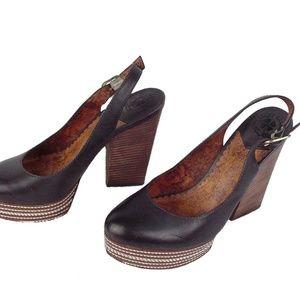 LUCKY BRAND ORIGINALS 7.5 M Black Platform Heels